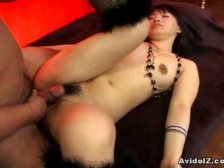 Akane ozora gets обидва з її holes fucked1