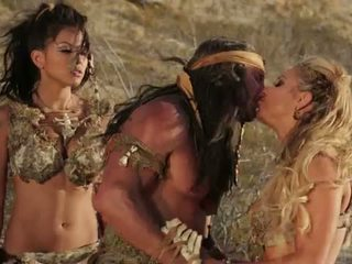 Wicked Pictures: Two hot babes fuked by a big hard dick in desert.