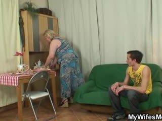 old action, nice grandma, granny scene