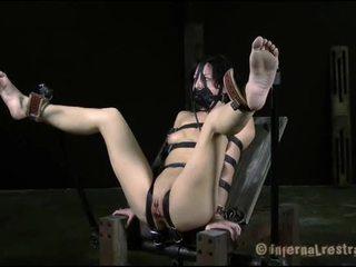 Tortured in upside neer positie