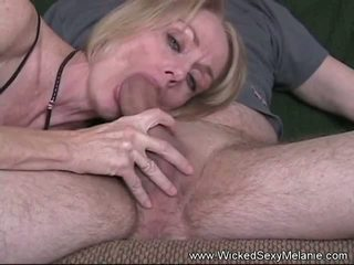 Swallow the Cum Job: Free Wicked Sexy Melanie Porn Video 4a