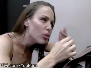 Hot british cougar hits on husbands employee