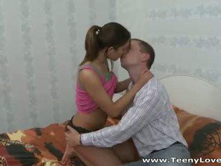 Teeny Lovers: Hot sex with brunette teen Greta