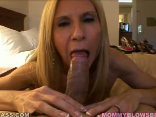 Big Titted Mommy Has Some Cum Onto Her Cups After A Head