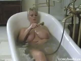 veľké prsia, blondínka, amatér