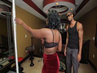 Stripper tomar ella todo: gratis negra & negrita porno vídeo 3c