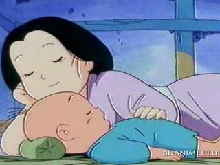 Uzbudinātas anime vīrs nailing grūti viņa wifes vāvere