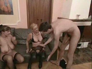 Amateur rijpere swingers trio seks video-