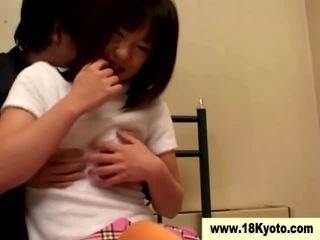 Japans vies tiener schoolmeisje video-
