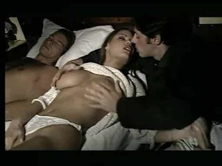 Gorgeous babe being assaulted in bed Video