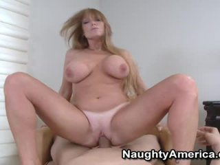 Busty Blonde Chick Liking Her Mouth Fucking