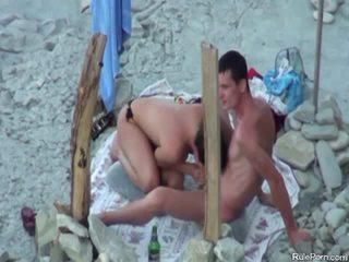 Nude beach spy video of cock sucking