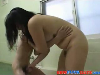 BBW Asian domina plays with small Asian