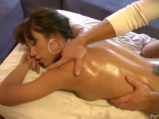 Vill fingring under hot massasje