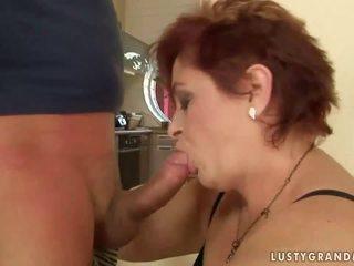 Fat grandma enjoys nasty sex