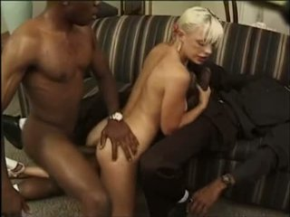 Interracial threesome with Anal and DP