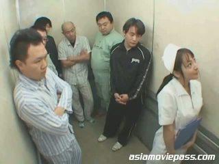 pielęgniarki, jednolity, azjatyckiego