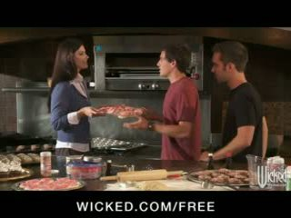 HOT soccer mom India Summer fucks her son's friends in threesome