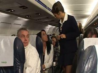 Difícil sexo com muito quente stewardesses