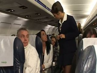 Hard sex with very hot stewardesses