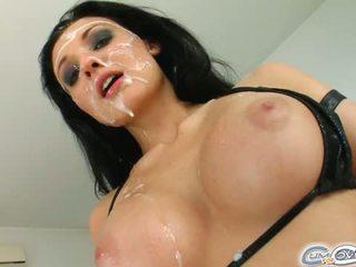 该 绝对 令人惊叹 外侨 gets 她的 脸 covered 在