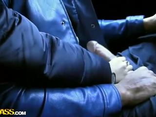 Handjob From Cute Asian In Automobile Backseat