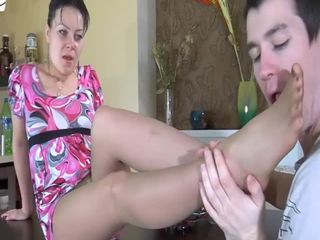 Milf gets drilled by a young hard cock