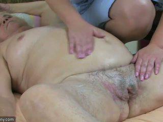 Feit bbw besta ha sex med lubben eldre og strap-on hardcore