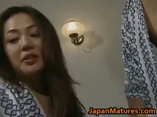 bruneta, japonec, skupinový sex, velká prsa