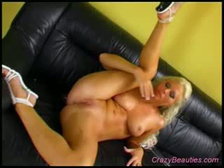 Naughty Blond loves toy
