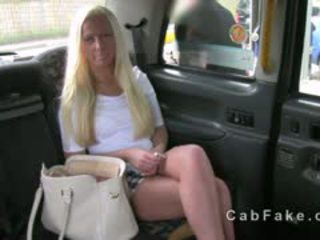 Blonde British Babe Fucked On A Backseat Of Fake Taxi