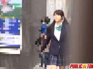 Delicious Japanese Schoolgirl Enjoys Sex Adventure
