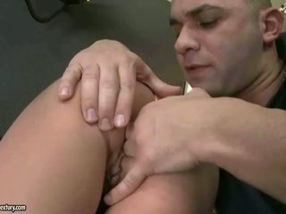Sexy redhead gets her ass drilled
