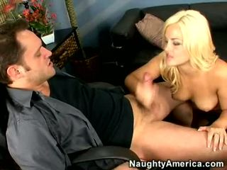 Golden Haired Babe Alexis Texas Blows A Large Hard Meat Cock
