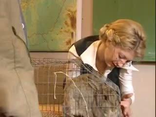 Hot blond Czech teacher fucked in class Video