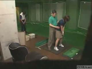 מאוד ידיים ב יפני גולף lesson
