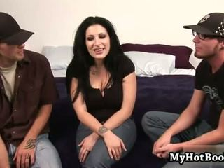 Priscilla Jane meets a couple horny dudes out in t