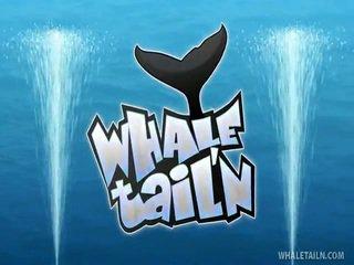 เซ็กซี่ บลอนด์ แสดง whale หาง