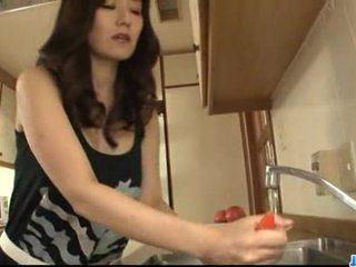 Hot milf Manami Komukai best blowjob ever