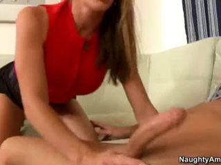 Deliciously Sexy Felony Sucks Off A Lucky Man's Nob Like Cum Coated Lollipop