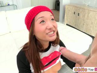 كبير كوك screws في سن المراهقة الاباحية alina li و هي gets