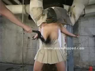 Blond is collared and has her nipples clamped by her Mistress who fucks her cunt