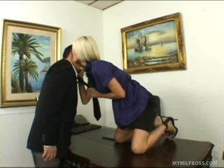 Breathtaking Blonde Chief Bonks Her Employee