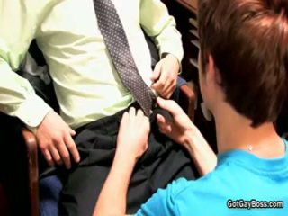 Redhead Acquires His Poop Shute Fucked In Office 2 By Gotgayboss