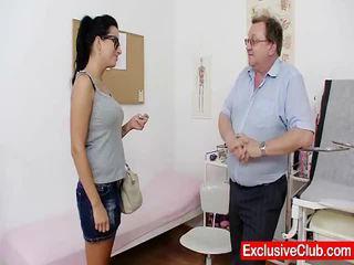 Kirsten Plant In Gyno Hospital Bizarre Twat Checkup