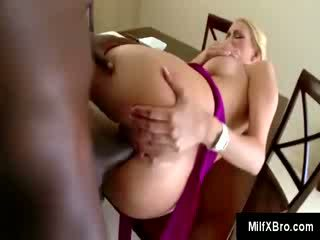 Whorish MILF ravaged by big ebony boner in the tabla she has dinner with her family