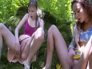 Three belarusian virgins Masturbating