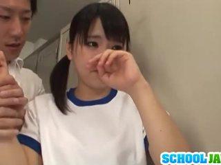 jeune, japonais, cowgirl, 3some