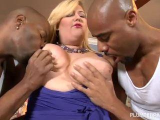 Erotic Blonde Amazon Receives Onto Couple BBCS