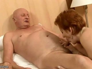 Two grannies fucking two cocks